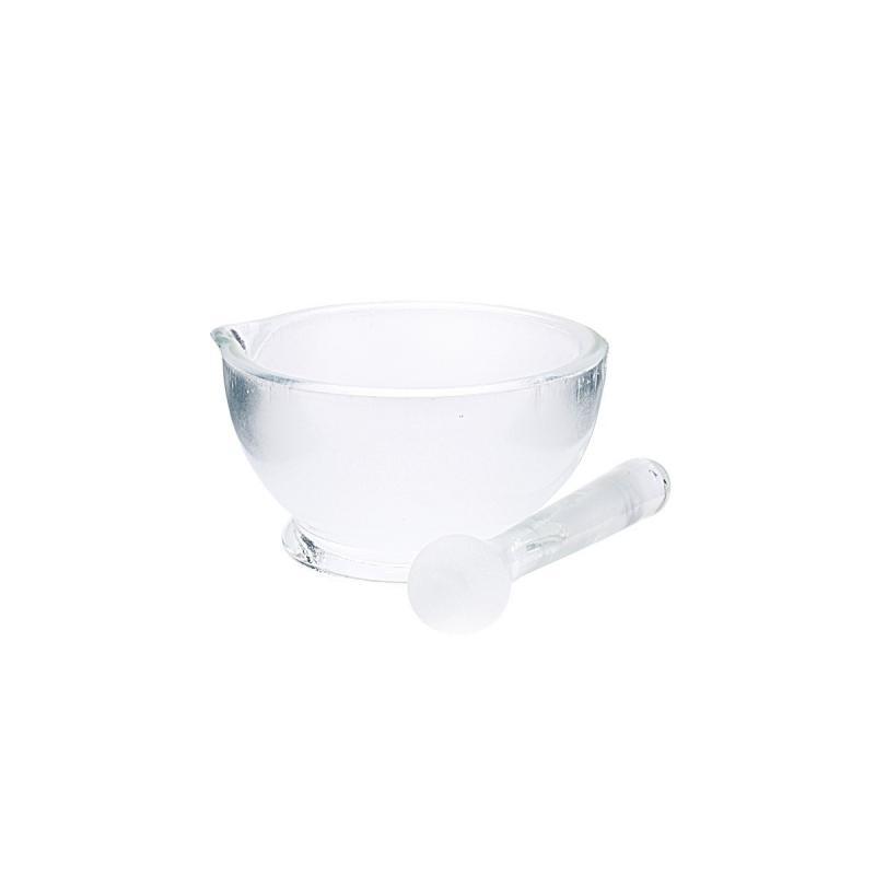 Trecia miska a tĺčik (sklo) na výrobu kozmetiky